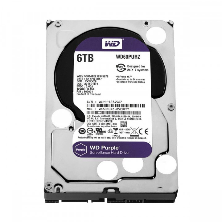Жесткий диск HDD Western Digital 6000 Gb 5400 rpm SATA 3.5 (WD60EJRX)