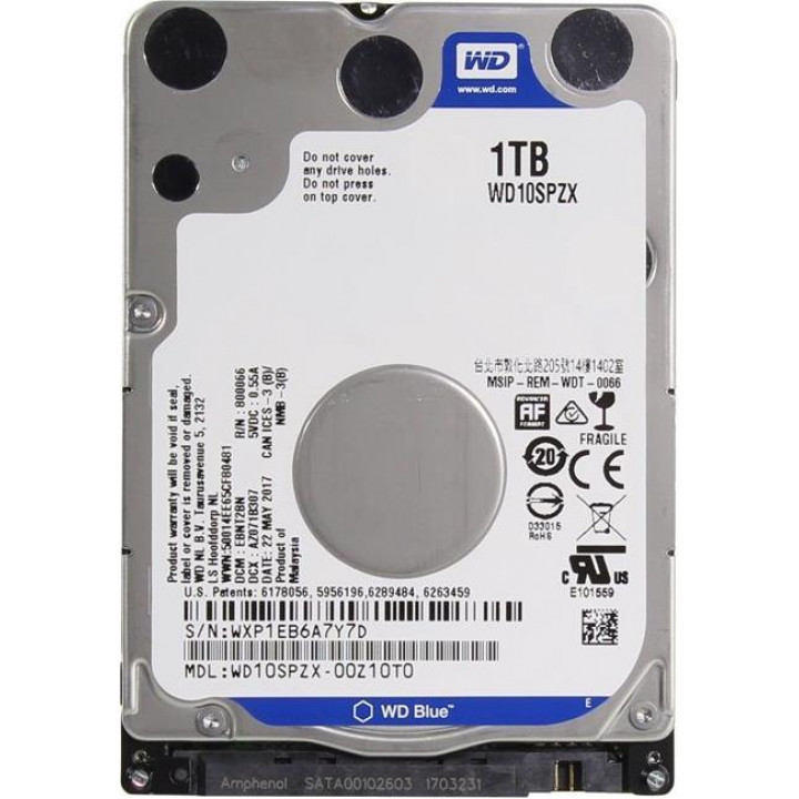 Жесткий диск HDD Western Digital 1000 Gb 5400 rpm SATA 2.5 (WD10SPZX)