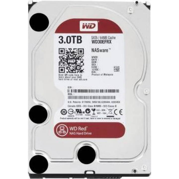 Жесткий диск HDD Western Digital 3000 Gb 5400 rpm SATA 3.5 (WD30EFRX)
