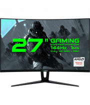Монитор игровой Gamemax 27.0 1920x1080 DVI HDMI DP Черный (GMX27C144 Black)