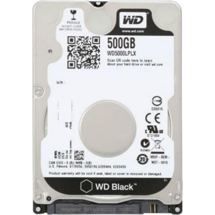 Жесткий диск HDD Western Digital 500 Gb 7200 rpm SATA 2.5 (WD5000LPLX)